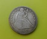 1 доллар 1845 г. Liberty США (копія), фото №2