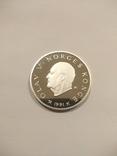 Норвегия 50 крон 1991 года серебро 16,81 грамм 925 проба, фото №2