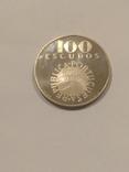 Португалия 100 эскудо  1976 года серебро 18 грамм, 650 проба, фото №5