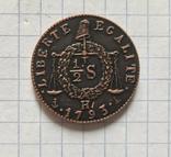 Монета. 1/2 сол. Франция 1793. Реплика, фото №3