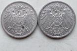 Две монеты Германии , 1 Марка 1914 года (А), 1 Марка 1915 года (А), фото №5