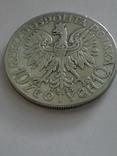 10 злотых 1933 года, серебро, фото №2