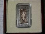 ХАЧКАР (Крест-камень) МОНАСТЫРЯ КЕЧАРИС - серебро, вставка из мрамора - ПОЛНЫЙ КОМПЛЕКТ, фото №3