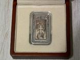 ХАЧКАР (Крест-камень) МОНАСТЫРЯ САНАИН - серебро, вставка из мрамора - ПОЛНЫЙ КОМПЛЕКТ, фото №4