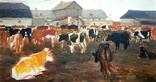 Картина с коровами. 1961. Художник Е.Н.Ткаченко (1923-2002)., фото №2
