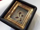 Икона М Б Черниговская в серебряном окладе 84* в киоте, фото №13