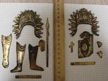 Серебренные старинные накладки, фото №2