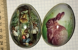 Шкатулка жестяная, пасхальное яйцо, 2 шт., фото №2
