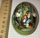 Шкатулка жестяная, пасхальное яйцо, 2 шт., фото №9