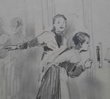 И. Тихий На экзаменах. Рисунок, Конец 1950-х гг., фото №6