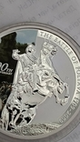 1 Доллар 2009г. 300 Лет Полтавской битве. Тувалу. Серебро., фото №4