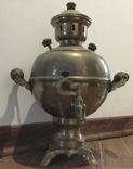 Самовар «шар» 1985 года, латунь, фото №2