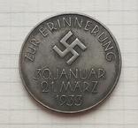 Германия. Третий Рейх. Гитлер / Гинденбург. Zur Erinnerung. 1933 г. Копия, фото №3