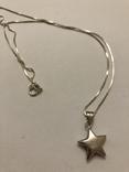 Кулон подвеска Звезда на цепочке серебро 925 Италия, фото №3