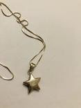 Кулон подвеска Звезда на цепочке серебро 925 Италия, фото №5