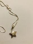 Кулон подвеска Звезда на цепочке серебро 925 Италия, фото №6