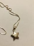 Кулон подвеска Звезда на цепочке серебро 925 Италия, фото №7