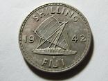 Шиллинг 1942 Фиджи, фото №2