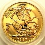 Великобритания 2 фунта 1987 г. Proof, фото №2