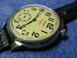 Часы Молния 3602 Паровоз,железнодорожные.Рабочие на ремешке, фото №6