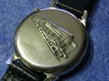 Часы Молния 3602 Паровоз,железнодорожные.Рабочие на ремешке, фото №7