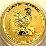 Австралия 100 долларов 2005 г. Год петуха., фото №2