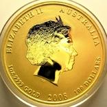 Австралия 100 долларов 2008 г. Год мыши., фото №3