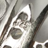 """Фантазийная серебряная подвеска """"мотылек"""" со стразами на серебряной цепочке, фото №4"""