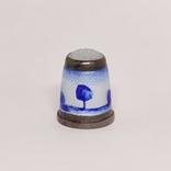 Винтажный серебряный наперсток с эмалями, фото №3