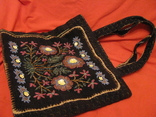 Сумка - гобелен с ручной вышивкой бисером и блёстками., фото №2
