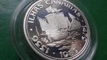 100  эскудо 1989 Португалия 510 лет открытию Канарских о-вов  серебро (2.5.4), фото №3