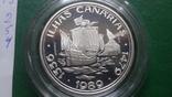 100  эскудо 1989 Португалия 510 лет открытию Канарских о-вов  серебро (2.5.4), фото №6