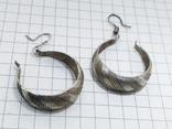 Серьги серебро 800 проба. 3,32 грамм, фото №7