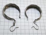Серьги серебро 800 проба. 3,32 грамм, фото №8
