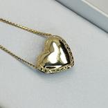 "Винтажная золотая подвеска ""сердце"" с бриллиантами, фото №3"