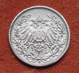1/2 марки 1918 г. (G) Германия, серебро, фото №6