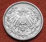 1/2 марки 1918 г. (G) Германия, серебро, фото №7