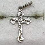 Крестик серебро 916 проба СССР., фото №2