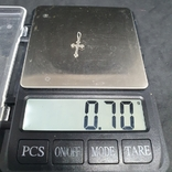 Крестик серебро 916 проба СССР., фото №3