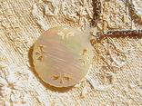 Кулон перламутр, цепочка серебро 925 пробы., фото №4