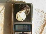 Кулон перламутр, цепочка серебро 925 пробы., фото №6