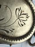 Кулон серебро 875 пр. голова до 1958г. с камнем и позолотой, фото №5
