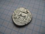 Денарий, Антоний Пий (реверс - молнии над троном), фото №11