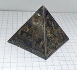 Пирамида Статуэтка латунь. Фараон, Египет., фото №9