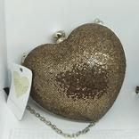 Новая сумочка-клатч в форме сердца. Длинная и короткая ручки., фото №2