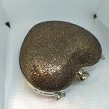 Новая сумочка-клатч в форме сердца. Длинная и короткая ручки., фото №5