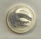 Австралия Крокодил 1 2014 год 1 унция серебра 999, фото №2