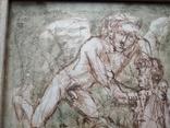 """""""Дева и Ангел""""б.сепия. 30х32 см. Виктор Павлов, фото №4"""