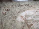 """""""Дева и Ангел""""б.сепия. 30х32 см. Виктор Павлов, фото №5"""