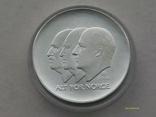 100 крон 2004 г. 100 лет Независимости Норвегия. Серебро. Футляр., фото №3